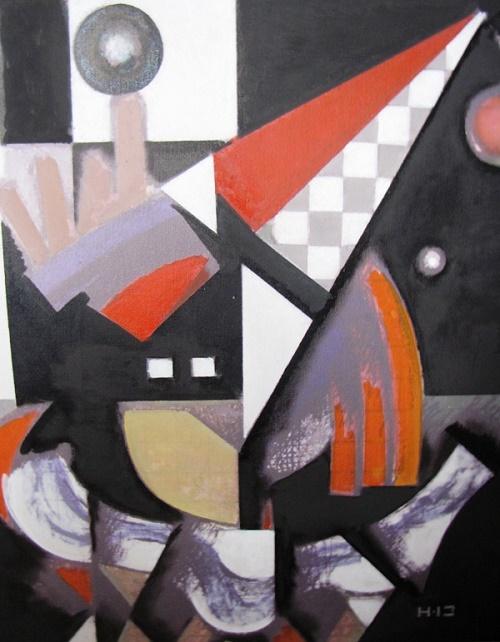Abstract painting. Soviet painter Alexandr Evgenievich Novgorodsky