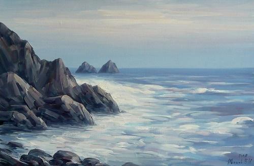 Crimean seascape. Soviet artist Viktor Ivanovich Tolochko (1922-2006)