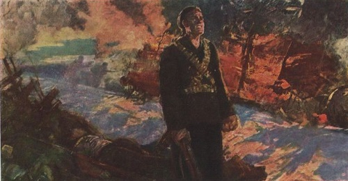 Soviet battle painter Mikhail Ananievich Ananiev