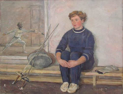Fencer, Merited Master of Sports Yagodina. 1953