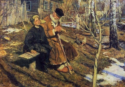 In Spring. 1956. Soviet painter Sergei Tutunov