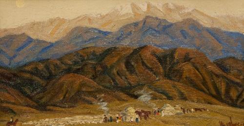 Soviet Kazakhstan artist Kamil Shayahmetov 1928 - 1995