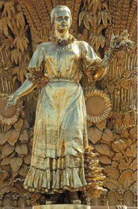 Soviet Era Monumental Fountain Golden Sheaf