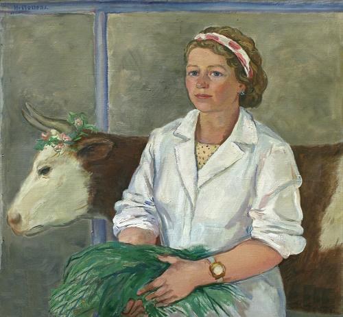 Soviet artist Irina Nikolaevna Popova