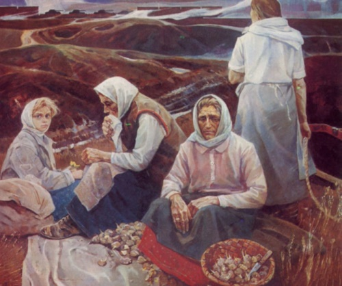 Mother's thoughts. 1969. State Russian Museum