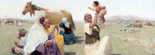 One happy Aul. Soviet Kazakhstan artist Kamil Shayahmetov 1928 - 1995