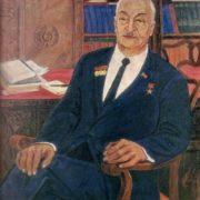 Portrait of writer B. Kerbabaev. 1970. Oil, canvas
