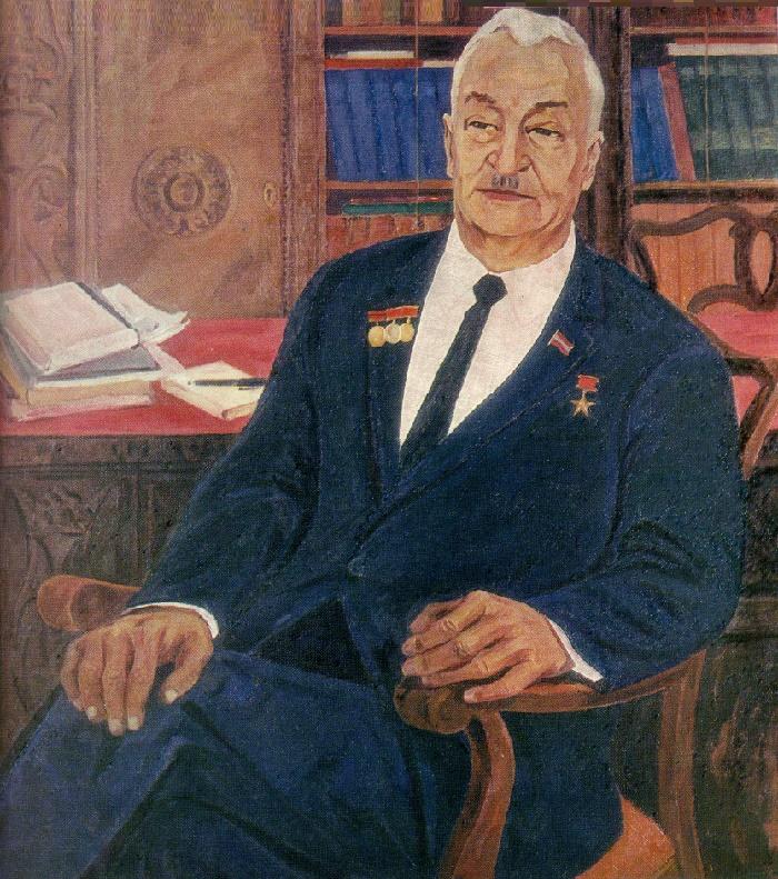 Portrait of writer B. Kerbabaev. 1970. Oil, canvas
