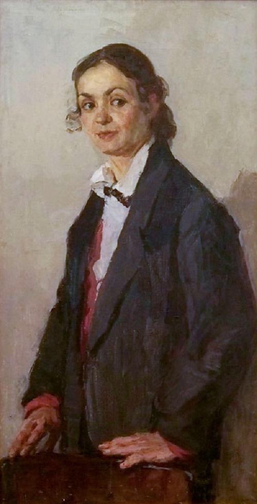 Self-portrait. Soviet painter Nadezhda Isaakovna Kovtunova (07 March 1916 - 1998)