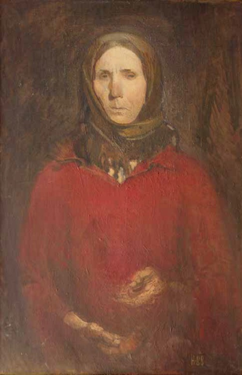 Soviet artist Alexandr Novgorodsky (born 1934). Woman from the village of Filimonovo. 1988. Tula art museum