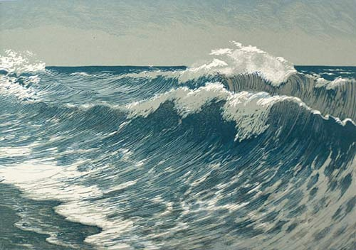 Surf. End of 1950. Soviet graphic artist Viktor Bibikov (31 October 1903 - 1973)