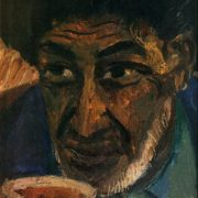 The head of the Turkmen. 1971. Oil, cardboard