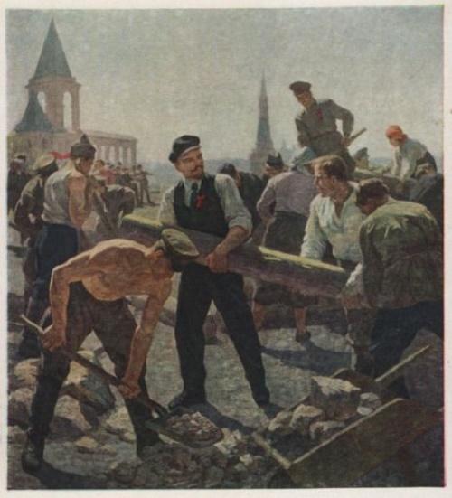 V.I. Lenin at subbotnik in the Kremlin. 1959-1960