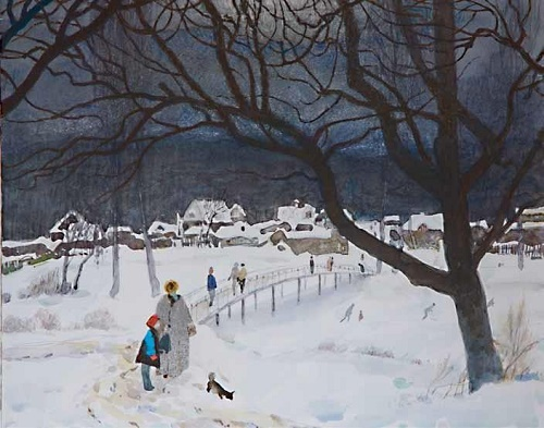 Winter landscape. 2001