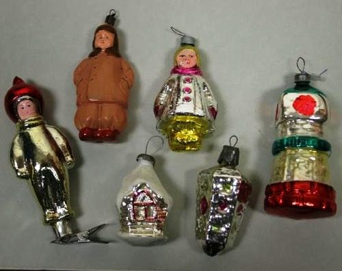 1930-1980s Soviet Christmas tree decorations