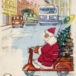 1980s ussr drawn by an unknown artist happy new year card