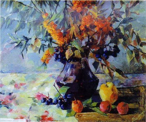 Altai vitamins. Watercolor
