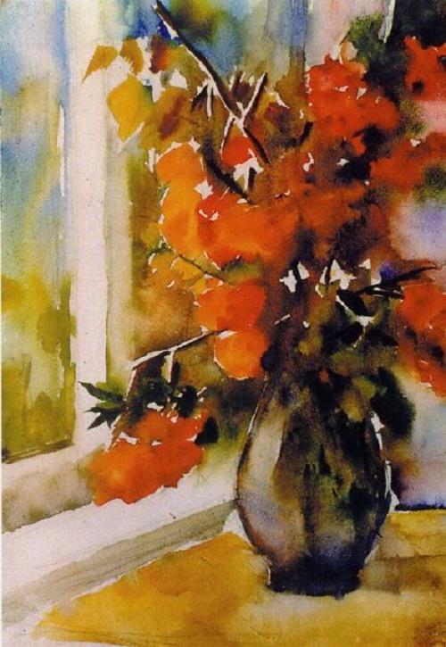 Autumn palette. Watercolor, paper