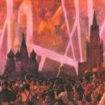 Victory Day on May 9 on Red Square. Oil. 1947