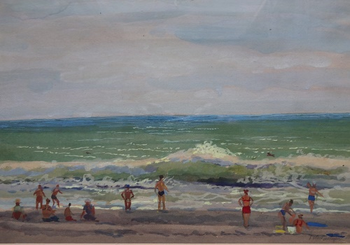 Black Sea. 1960. Gouache on paper