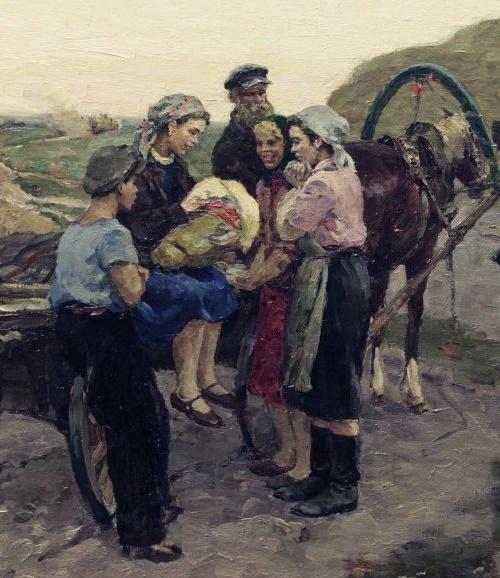 Soviet artist Evgeny Rastorguev (1920 - 2009)