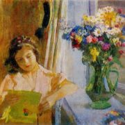 Portrait of granddaughter Ira. 1959. Oil, canvas