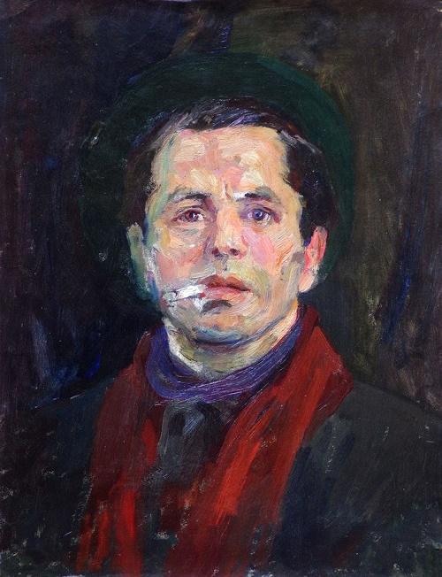 Self-portrait. 1960s. Soviet artist Mikhail Trufanov (1921-1988)