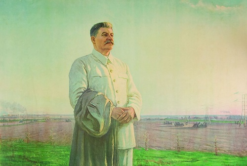 The morning of our homeland. Oil Painting by Soviet socialist realism artist Fyodor Shurpin