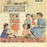 1953 illustrated book 'Kindergarten on walk'