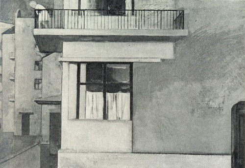 A girl on the balcony. 1964