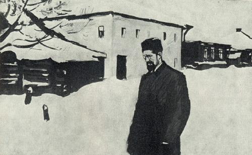 A. Chekhov. 1958. Soviet artist Beniamin Basov 1933-2000