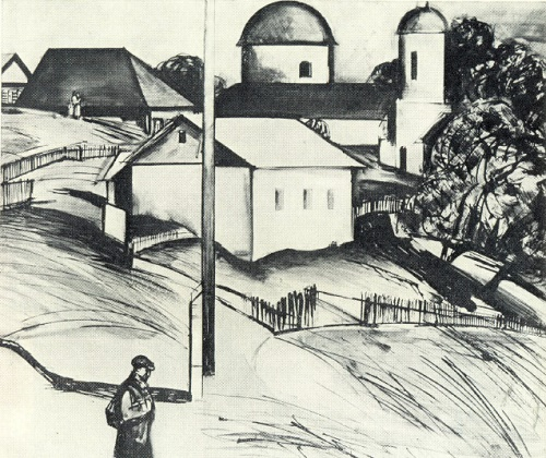 A. Tvardovsky. House at the road. Leaving for the front. 1967