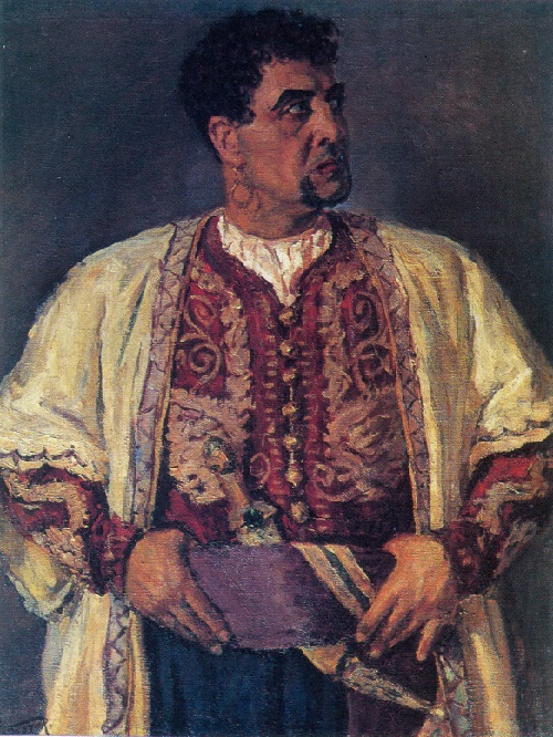 Abdulkhak Abdullayev. Born 1918. Portrait of A. Khidoyatov, People's artist of the USSR. 1946. Oil on canvas