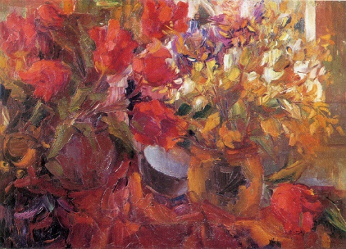 Wild flowers. 1955. Oil on canvas