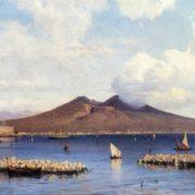 Alexey Bogoliubov. 1824-1896. View of the Vesuvius from the sea. Oil on canvas