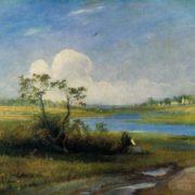 Alexey Savrasov. 1830-1897. The village of Mikhailovskoye. 1896. Oil on canvas