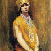 Andrey Riabushkin. 1861-1904. The dancer. Oil on canvas