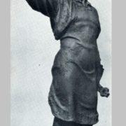 Black smith - novator Alexandr Busygin. Tinted gypsum. 1937