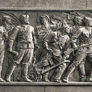 Detail of Kirov monument in Leningrad