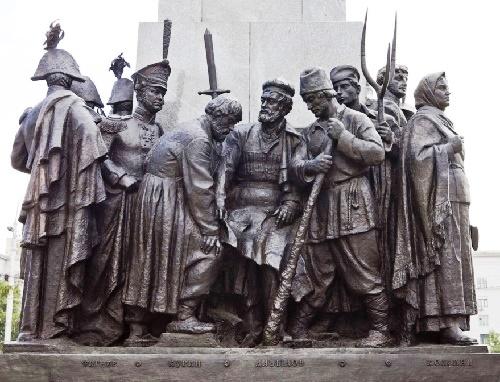 Heroes of 1812 war fragment of Kutuzov monument