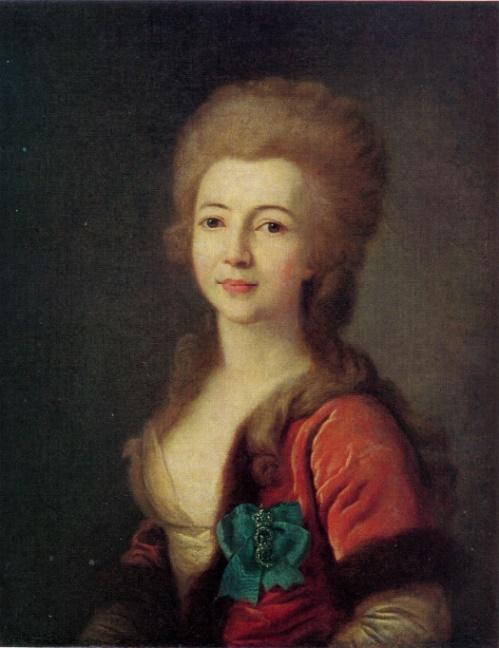 Dmitry Levitsky. 1735-1822. Portrait of E. Vorontsova. 1783. Oil on canvas