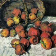 Evgeny Melnikov. Born 1928. Pomegranates. 1965. Oil on canvas
