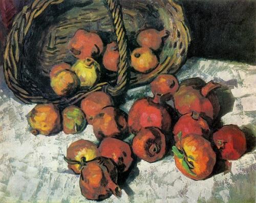 Evgeny Melnikov. Born 1928. Pomegranates. 1965. Oil on canvas