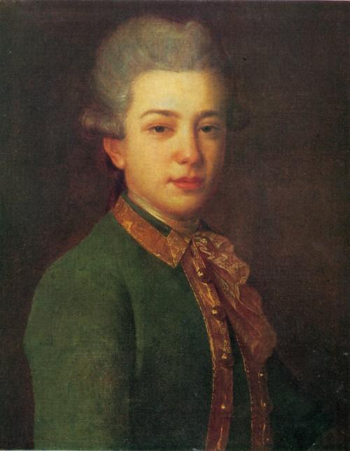 Fiodor Rokotov. 1735-1808. Portrait of N. Rumyantsev. Oil on canvas