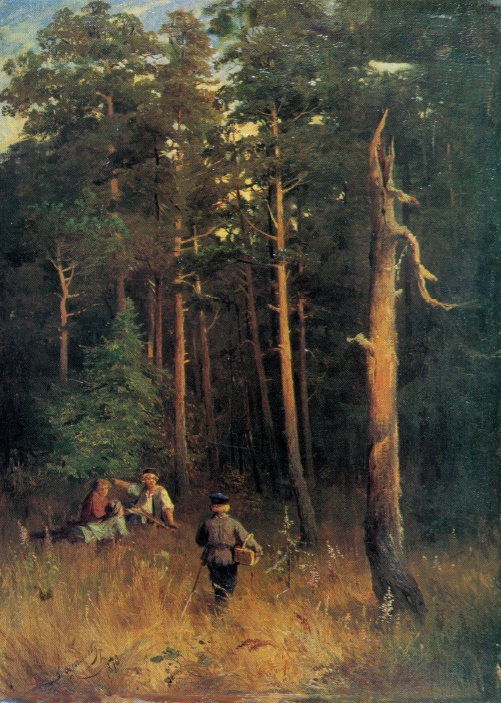 Fiodor Vasilyev. 1850-1873. Boys in a pine-tree forest. 1870. Oil on canvas
