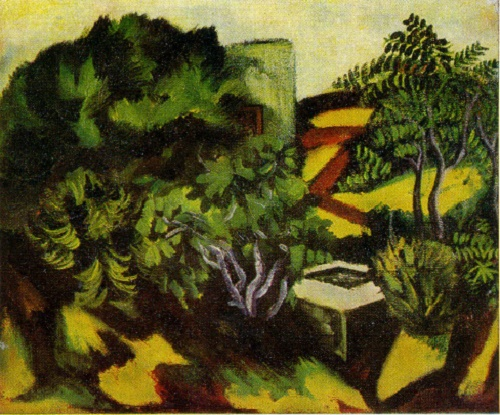 Garden in Buzovny. 1973. Oil on canvas. Property of artist