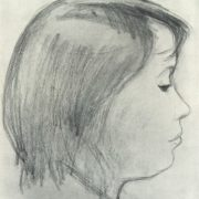 Girl in profile. 1964