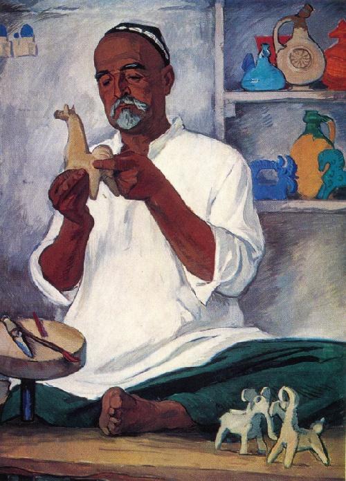 Grigory Ulko. Born 1925. Portrait of the folk craftsman U. Dzhurakulov. 1965