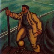 Height worker. 1972. Oil on canvas. Property of Ministry of culture of Azerbaijanian SSR