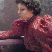Ilya Repin. 1844-1930. Portrait of N. Repina. 1895. Oil on canvas